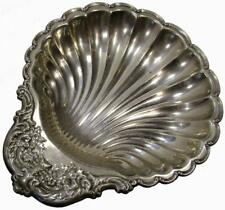 Silverplated Scallop Clam Sea Shell Serving Bowl 50's Vintage 36 x 29.5 cm