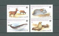Tiere, Animals, WWF - Chile - 1066-1069 ** MNH 1984