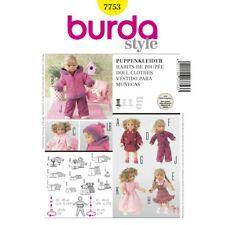 Sewing Pattern Burda Doll Clothes 7753