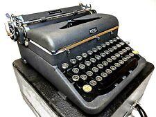 1940 ROYAL B Aristocrat Black Portable TYPEWRITER Glass Keys w/ Case Vtg Touch