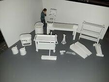 1:18 Scale Drill Press, Bench Grinder, Vise, Work Bench, Diorama  Accessories