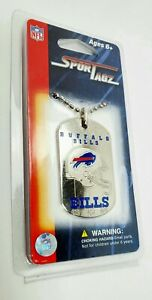 NFL NOS VTG NEW BUFFALO BILLS BLING Metal Dog Tag Sport Tagz Necklace NEW!