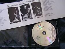 NANA VASCONCELOS Saudades ECM 1147 1980 1 CD w Egberto Gismonti