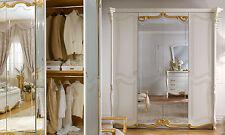 Luxus  Kleiderschrank Schlafzimmer La Fenice Beige-Gold Italienische Klassik
