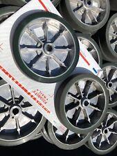 "(2) Aluminum Rubber Flat Free Wheels Hand Trucks Carts Casters 8"" x 1 1/2�"