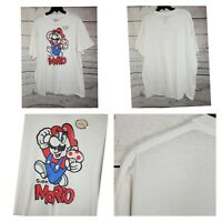 Mens Super Mario Bros T-Shirt Size XXL White