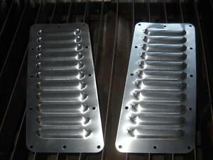 """Tilted Pair of 11 5"""" Louvered Panels Hood louvers Bolt-on style Vent Kit"""