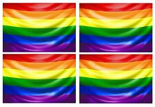 4pcs lgbt gay pride rainbow flag vinyle voiture moto autocollant decal 90x60mm chaque