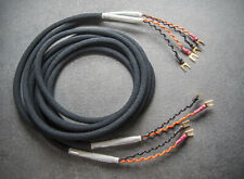 Belden 9497 speaker cable Cotton Jacket, DH Labs gold Spade / Mundorf Silver /