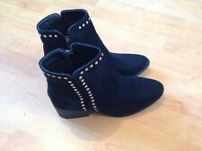 Lovely Ladies Black Ankle Boots With Studs Size 5 New Shop Clearance