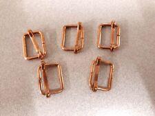 5x 19mm copper finish metal slide grip bar buckle bag strap craft  tailor belt<<