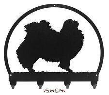 Swen Products Japanese Chin Dog Black Metal Key Chain Holder Hanger