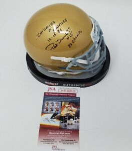 Pat Terrell Signed Autographed Notre Dame Fighting Irish Mini Helmet 2 Inscript