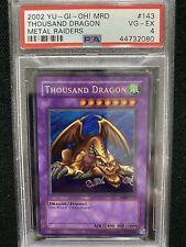 2002 Yugioh Metal Raiders Thousand Dragon MRD-143 PSA 4