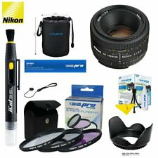 Nikon AF NIKKOR 50mm f/1.8D Lens+Expo Basic Kit