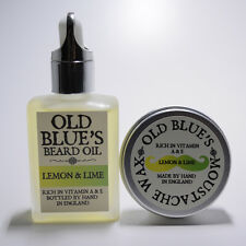 Old Blue's Beard Oil & Wax Lemon  Lime 100% Natural with Vitamin E 30ml of each
