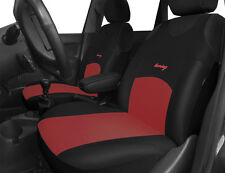 2 BLACK RED FRONT CAR SEAT COVERS PROTECTORS FOR SKODA FABIA