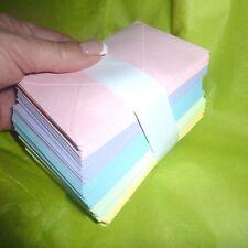 Floristry Card 100 Envelopes Candy Colours 5 Pastel coloured 11cm x 7cm  paper