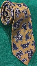 Men's Jos.A.Bank Signature Gold /blue Paisley 100%Silk Neck tie Made in China