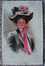 Little Lady Demure 1907 Philip Boileau signed Young Woman with Hat 1907 Illinois