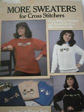 1986 More Sweaters for Cross Stitchers Stitch Pattern Book Angel Geese Cat Heart