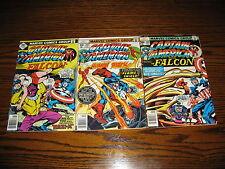 Marvel - CAPTAIN AMERICA #209,211,216 Lot!!  Glossy VG+/FN  1977