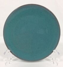 """Rowantrees Pottery SIGNED Blue Hill Maine PLATE 5 1/4"""" Turquoise Green RARE"""