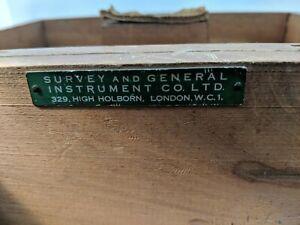 Vintage Survey And General Instrument CO Ltd Theodolite Wood Cased Holborn W.C.1