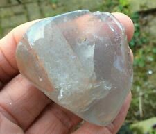 PHANTOM GHOST QUARTZ CRYSTAL CHLORITE & LITHIUM POLISHED LARGE STONE BAG & CARD