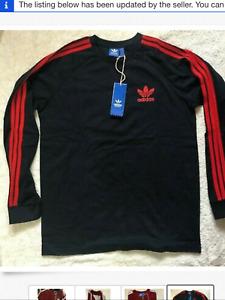 2 Adidas 2xl long sleeve California t shirts 3 stripes beautiful