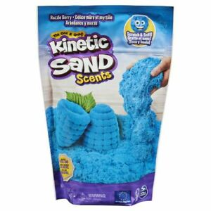 Kinetic Sand Scents, 8oz Blue Razzle Berry Scented Kinetic Sand, Ages 3+