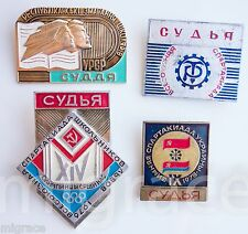 RUSSIAN SOVIET 4 badges Referee sport games USSR