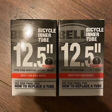 "2 pack Bell Bicycle Inner Tube 12.5"" x 1.75 - 2.25 Tire Kids Bike Standard"