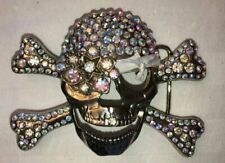 vintage pirate studded belt buckle