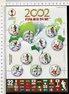 36420) KOREA 2002 MNH**  WC Soccer 2002 football MS