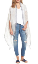 Madewell Womens Multicolor Vertical Stripe Cape One Size 4316