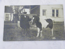 Vintage Real Photo of Boy with Pony Postcard