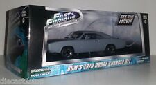 1:43 Scale Greenlight Dom's 1970 Dodge Charger R/T - From Fast and Furious