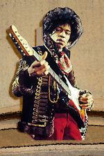 "Jimi Hendrix Rock and Roll Tabletop Standee 9 3/4"" Tall"