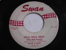 Billie & Lillie Bells, Bells, Bells Original 1959 45rpm