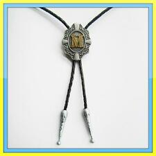 "NEW INITIAL "" M "" RODEO COWBOY BOLOTIE WESTERN BOLO TIE"