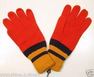 Brooks Brothers Orange, Gold & Blue Color Blocked Gloves