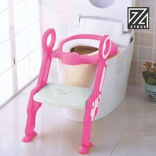 Potty Seat ADJUSTABLE BABY Toddler Kid Trainer with Step Stool Ladder Fold Down