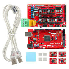 Arduino Mega 2560 R3+4pcs A4988 +RAMPS1.4 +Cavo kit per Stampante 3D Controllore