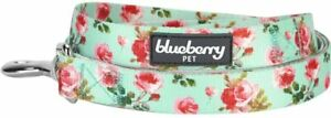 Blueberry Pet Floral Pattern Durable Spring Scent Inspired Turquoise Print Dog S