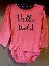 ab237a80 Oshkosh Glitter Bodysuit Baby Girls Ruffle 24months 2 Long Sleeve Toddler
