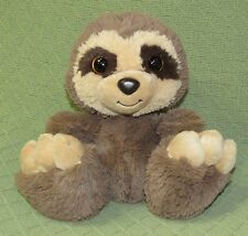 "Aurora BABY SLOTH Taddle Toes Plush Stuffed Animal Lovie Soft 9"" Tan Brown Toy"