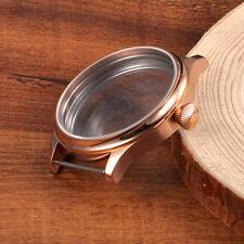 44mm Corgeut Watch Gold Case Fit ETA 6498 6497 Hand Winding Movement CA44GC