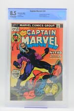 CBCS (CGC) 8.5 CAPTAIN MARVEL #34 1ST APPEARANCE NITRO JIM STARLIN OW/W PAGES