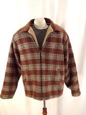 WOOLRICH Ladies Med. WOOL  Jacket Shearling lined Brown/Rust/Beige EUC